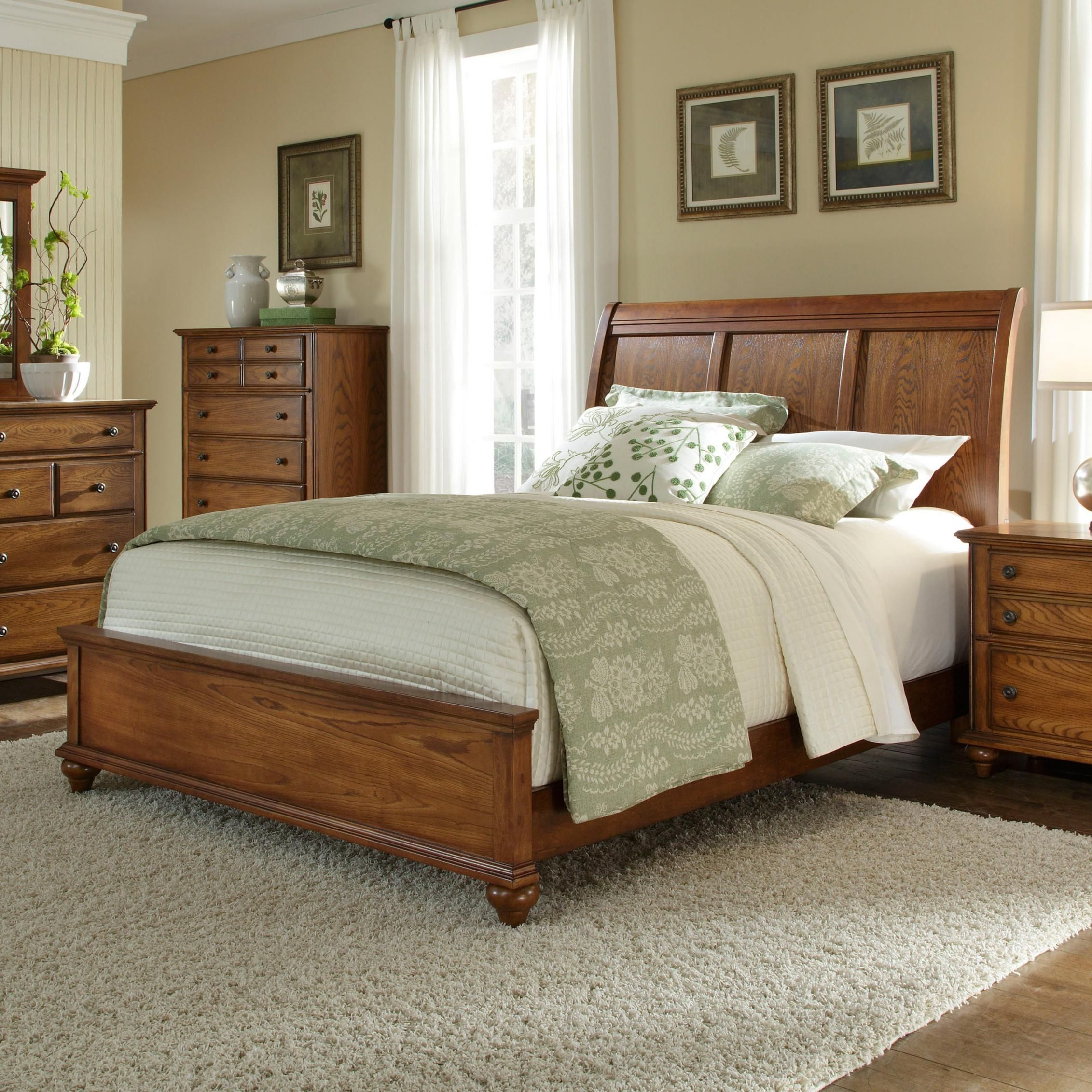 Hayden Place King Bed with Sleigh Headboard by Broyhill