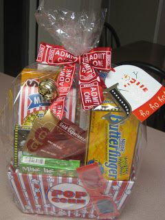 movie basket date night holiday christmas present teacher