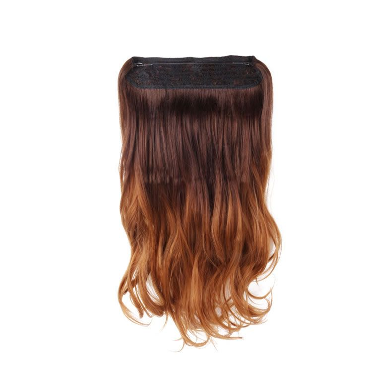 20 inch Flip In Secret Miracle Wire Hair Extensions Brown to Caramel ...
