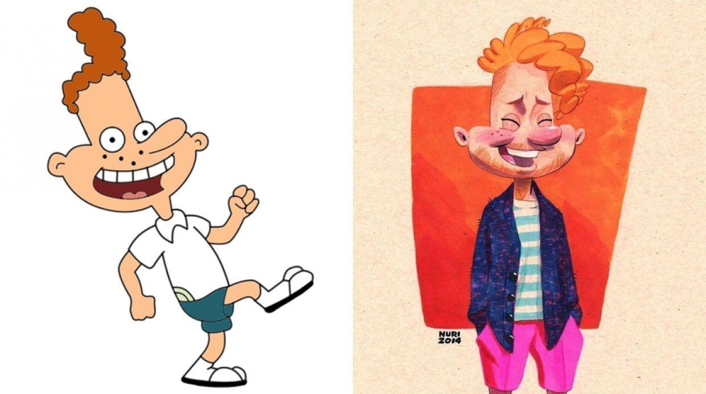 Hey Arnold Asi Lucirian Los Personajes En La Actualidad Personajes Hey Arnold Dibujos Animados
