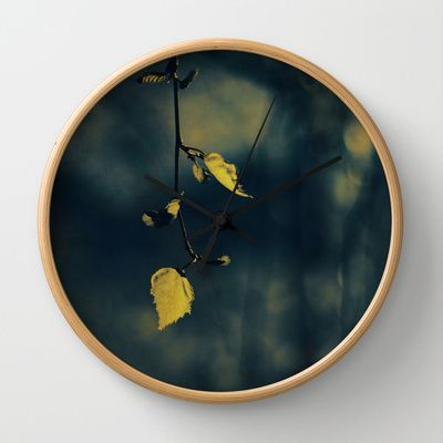 alone Wall Clock $30free shipping through till sunday #new #awesome #contemporary #wall #clock #ingz #Society6 #photography #cool #elegant #abstract #leaf #nature #green #blue #autumn
