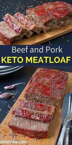 Keto Beef And Pork Meatloaf Recipe Food Low Carb Recipes