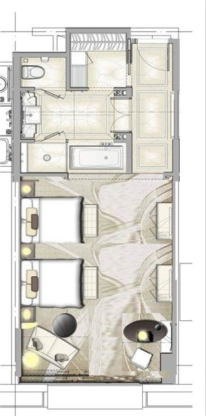 Hotel Room Plan: Hotel Plan Seating Area And Windows To Be Changed