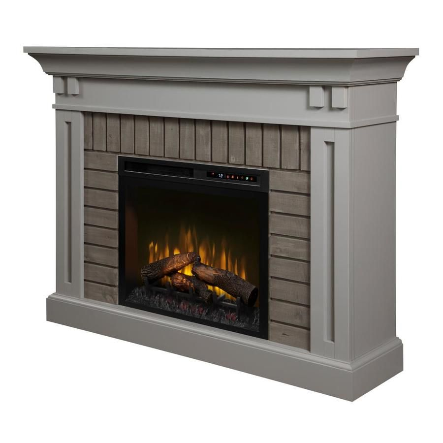Dimplex 58 In W Stone Grey Fan Forced Electric Fireplace Lowes Com Electric Fireplace Free Standing Electric Fireplace Fireplace Mantels