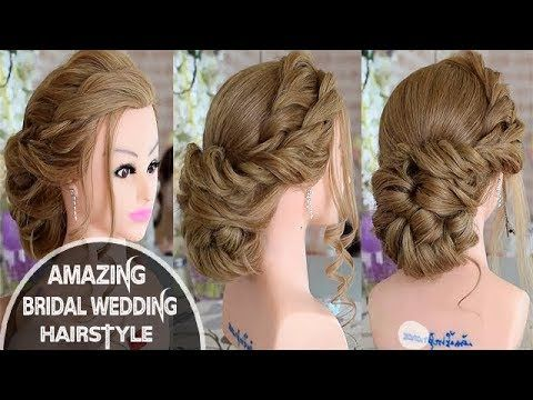 Beautiful Hairstyles For Function Easy Wedding Hairstyle Bridal Updo Youtube Hair Styles Medium Hair Styles Best Wedding Hairstyles