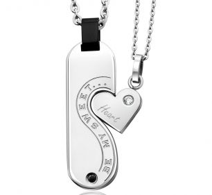 Inori Necklace - BE MY SWEETHEART- 2 PENDANT SET - Stainless Steel  Item 1105831564    Inori is a Japanese word meaning Prayer for Harmony, Hope and Balance - an ancient wish in a contemporary, stylish form.    Worn individually, these pendants look great - BUT - put them together and you tell a very special story!