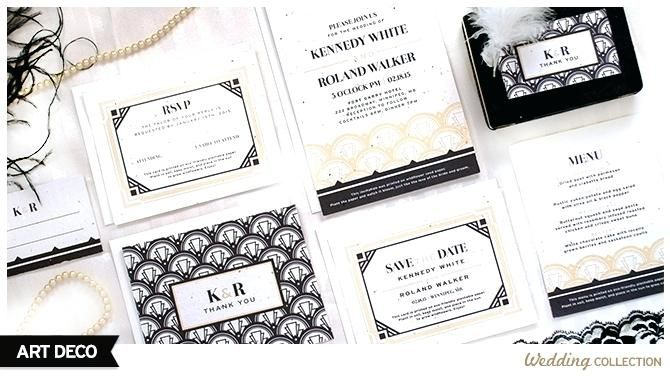 Fresh 1920s Style Wedding Invitations Or These Art Can Be Planted To Grow Wildflowers
