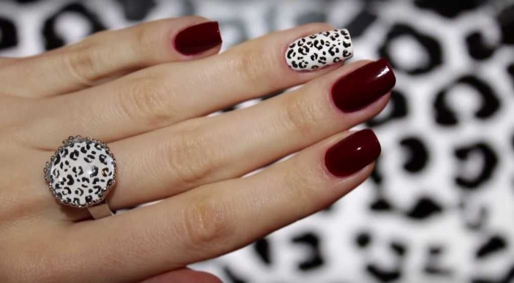 Vinous leopard nail art :: one1lady.com :: #nail #nails #nailart ...
