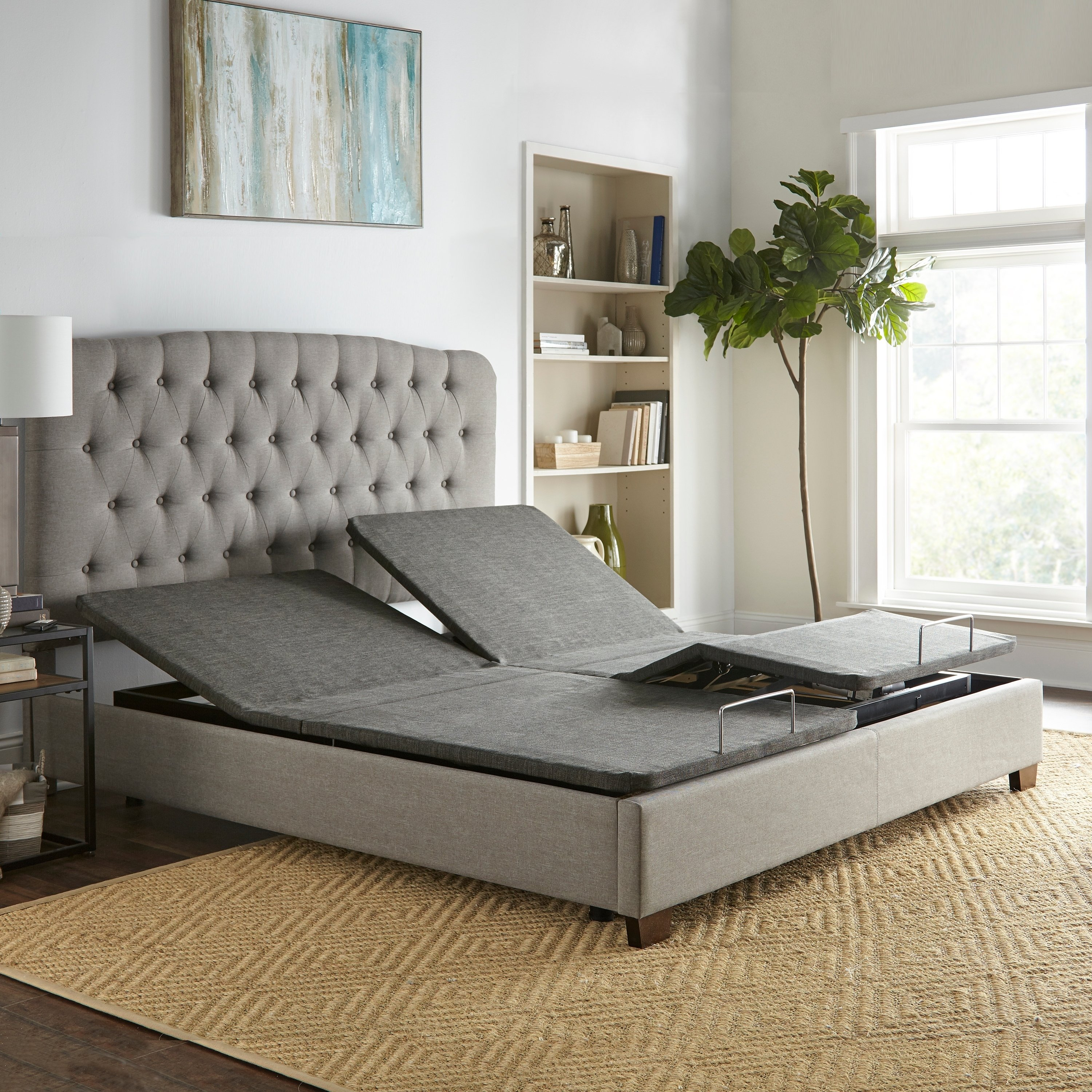 Sleep Sync Adjustable Bed Base Upholstered Split King Wireless