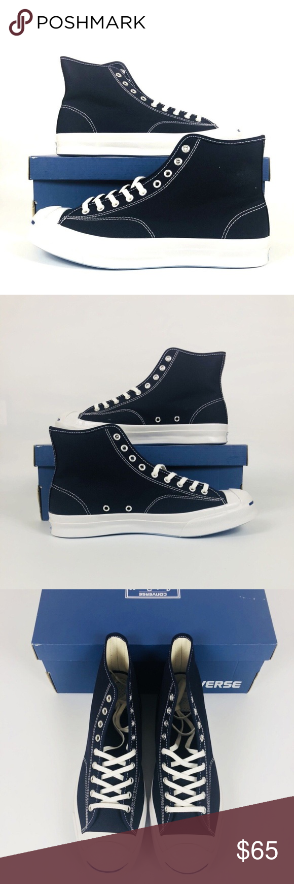 9148c034132f Converse Jack Purcell JP Signature Converse Jack Purcell JP Signature Hi  Mens 11 Shoes Sneaker Inked Blue 153592C New With Box Shipped Double Boxed  Converse ...