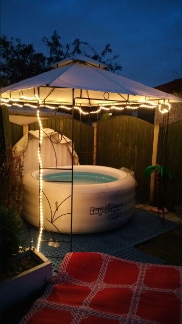 Lay Z Spa Under Gazebo Hot Tub Garden Hot Tub Gazebo Hot Tub Patio