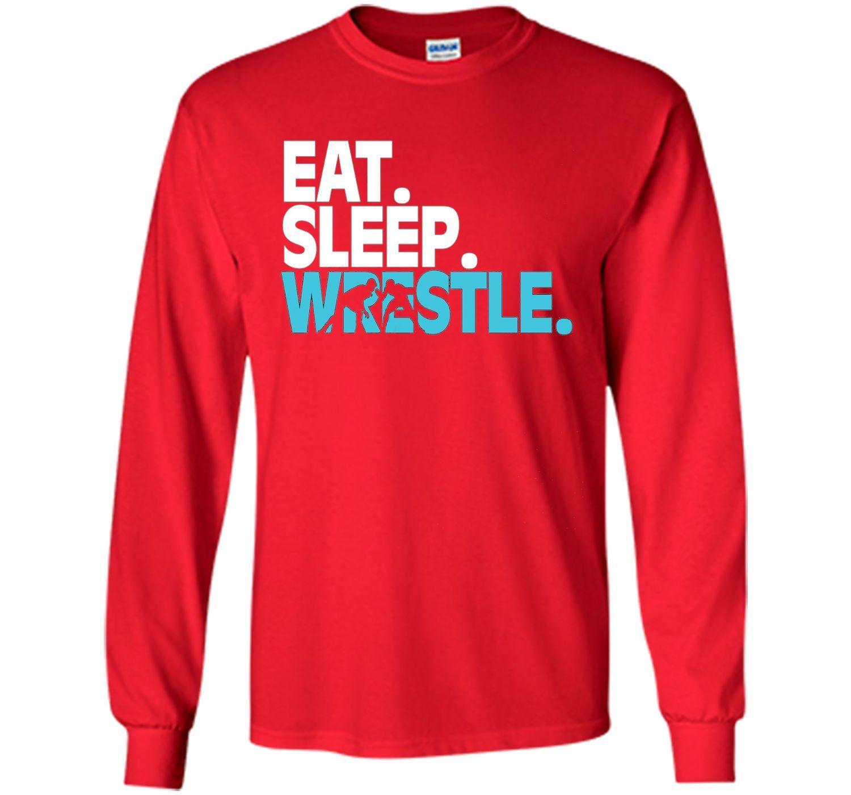 Wrestling T-Shirt Eat Sleep Wrestle Short Sleeve t-shirt