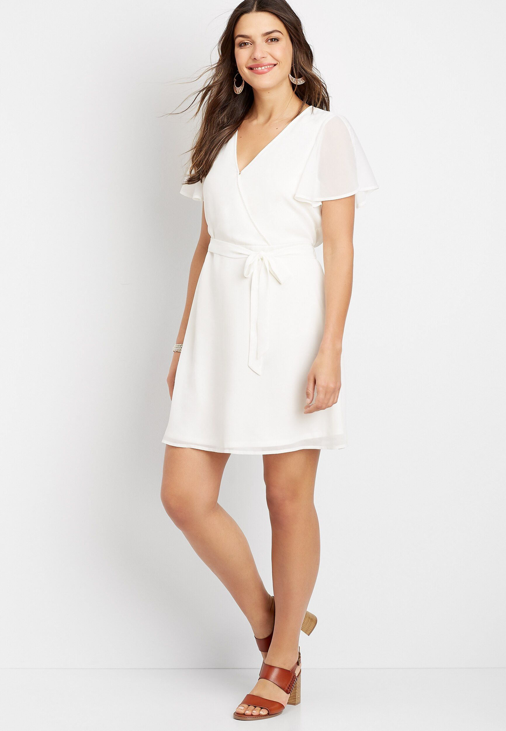 White Wrap Dress White Wrap Dress Dresses Wrap Dress [ 2500 x 1732 Pixel ]