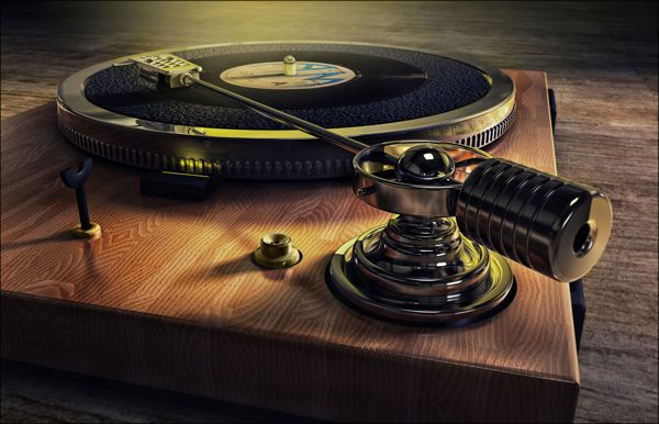 Old School Record Player Background Hd Wallpaper Music