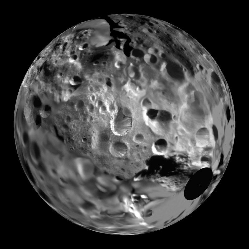 Saturn's outer moon, Phoebe is very small, only 220 ...