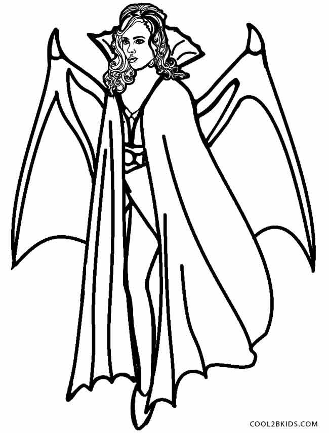 Printable Vampire Coloring Pages For Kids | Cool2bKids | Holiday ...