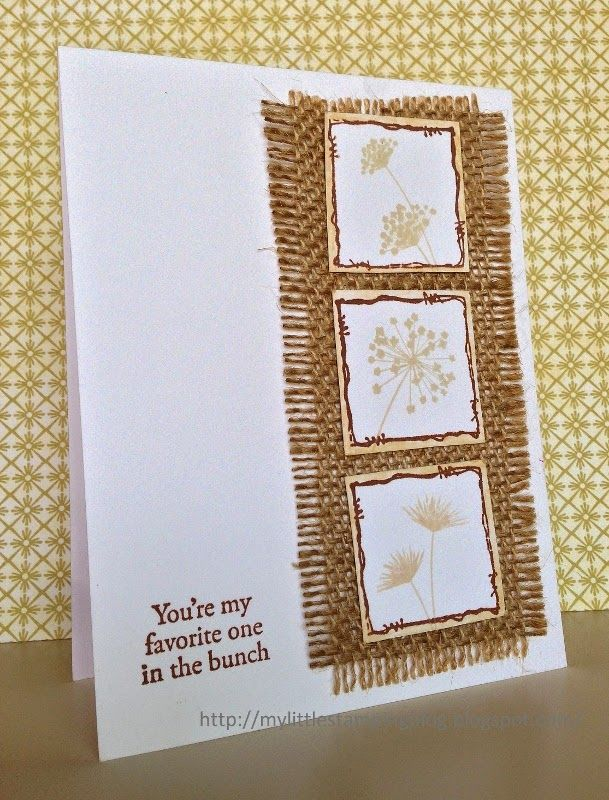 My Little Stamping Blog: Clean & Simple - Shades of Brown