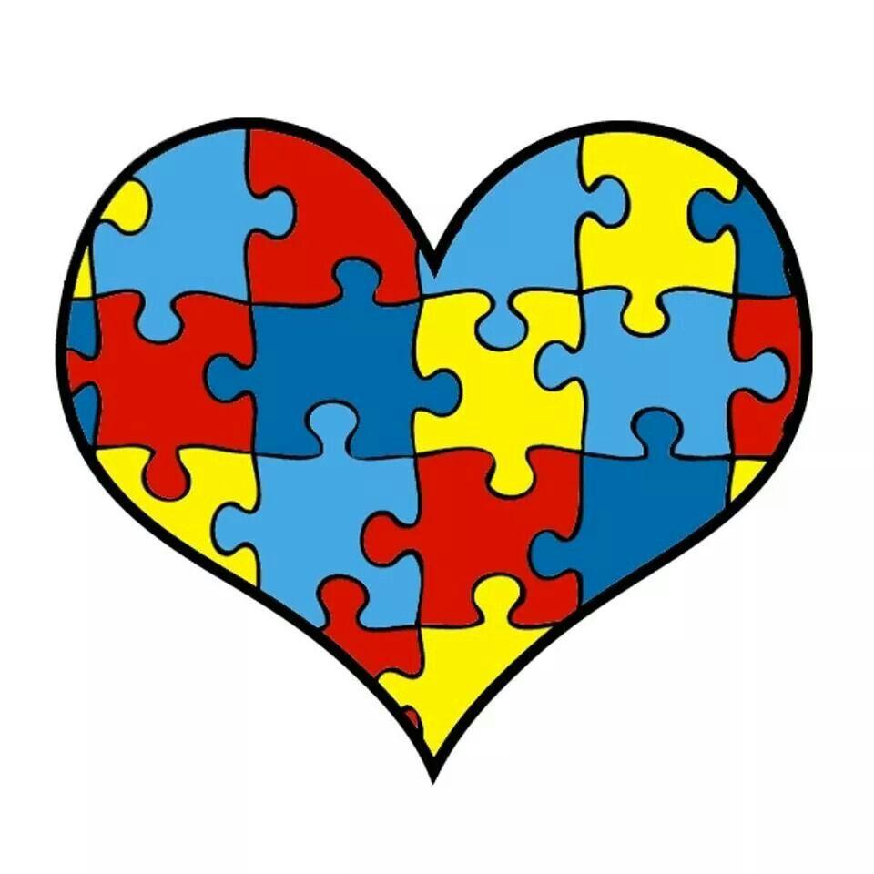 Hearts Autism Colors Autism Puzzle Piece Autism Logo