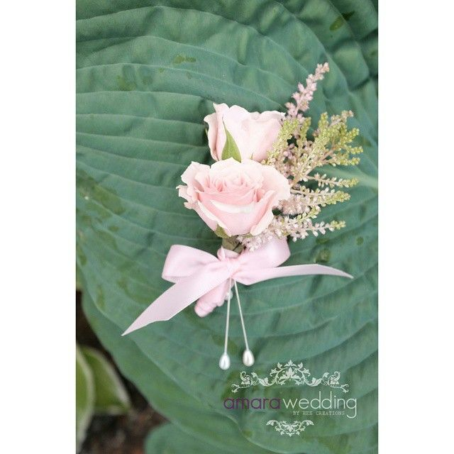 Vancouver Wedding Flowers: Nice Vancouver Wedding Astilbe And Spray Rose Boutonniere