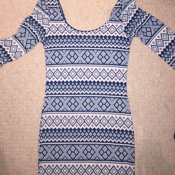 Lulus tight patterned dress Never before worn.  Great condition! Lulu's Dresses Long Sleeve