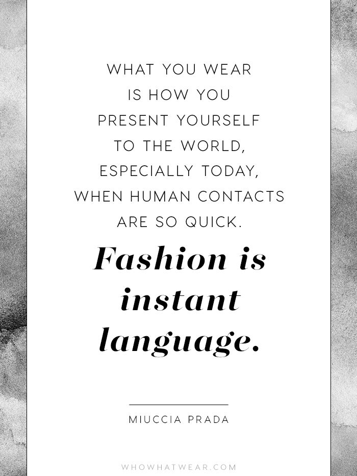 The Crucial Quotes Every Fashion Girl Should Know Inspire Me
