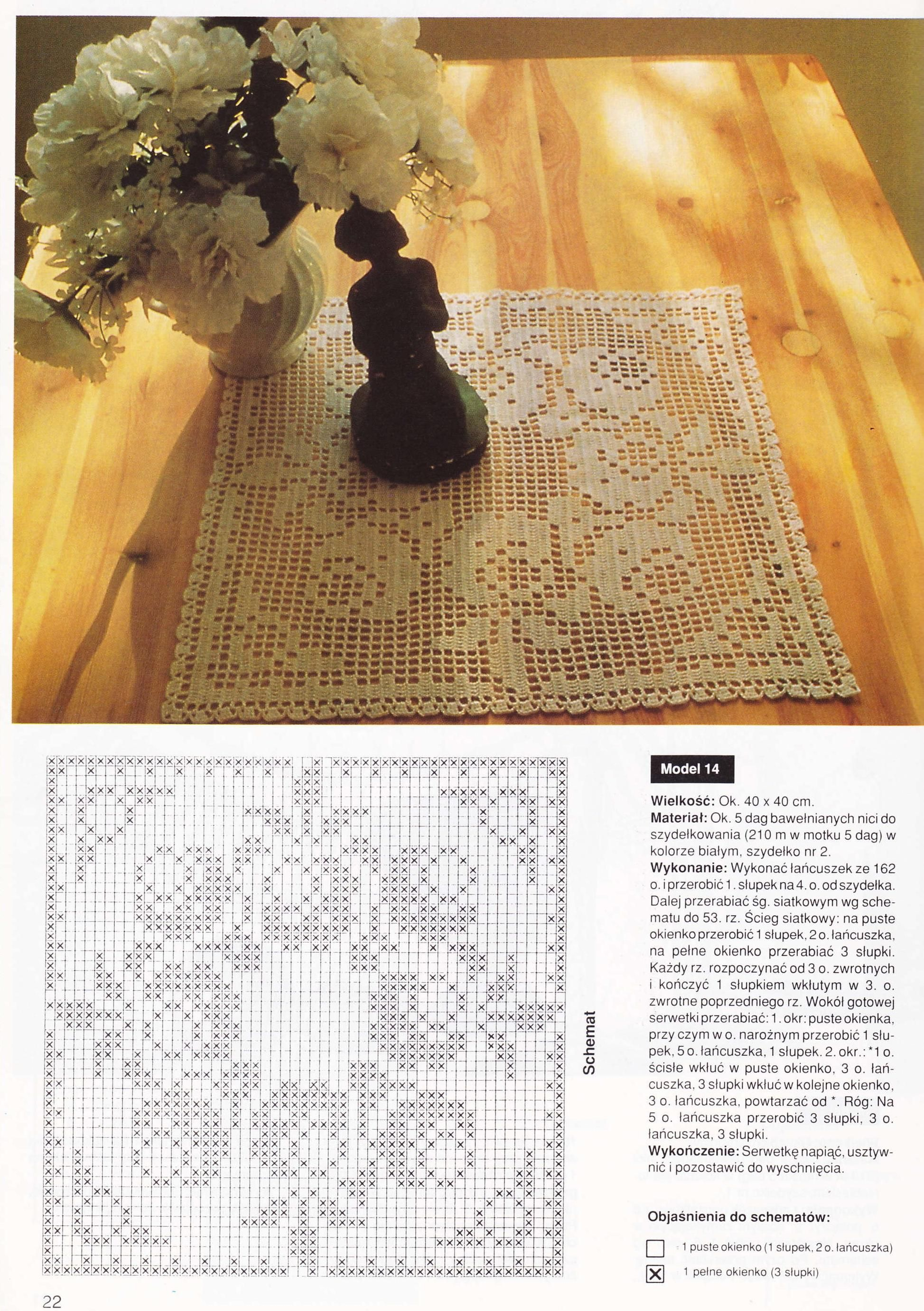 Deckchen Eckig Rosen Häkeln Crochet Crochetédiverses