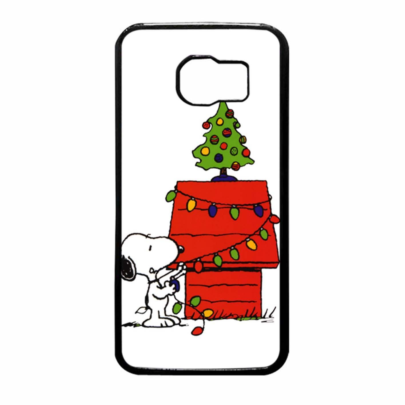 snoopy christmas lights tree samsung galaxy s6 case [ 1417 x 1417 Pixel ]