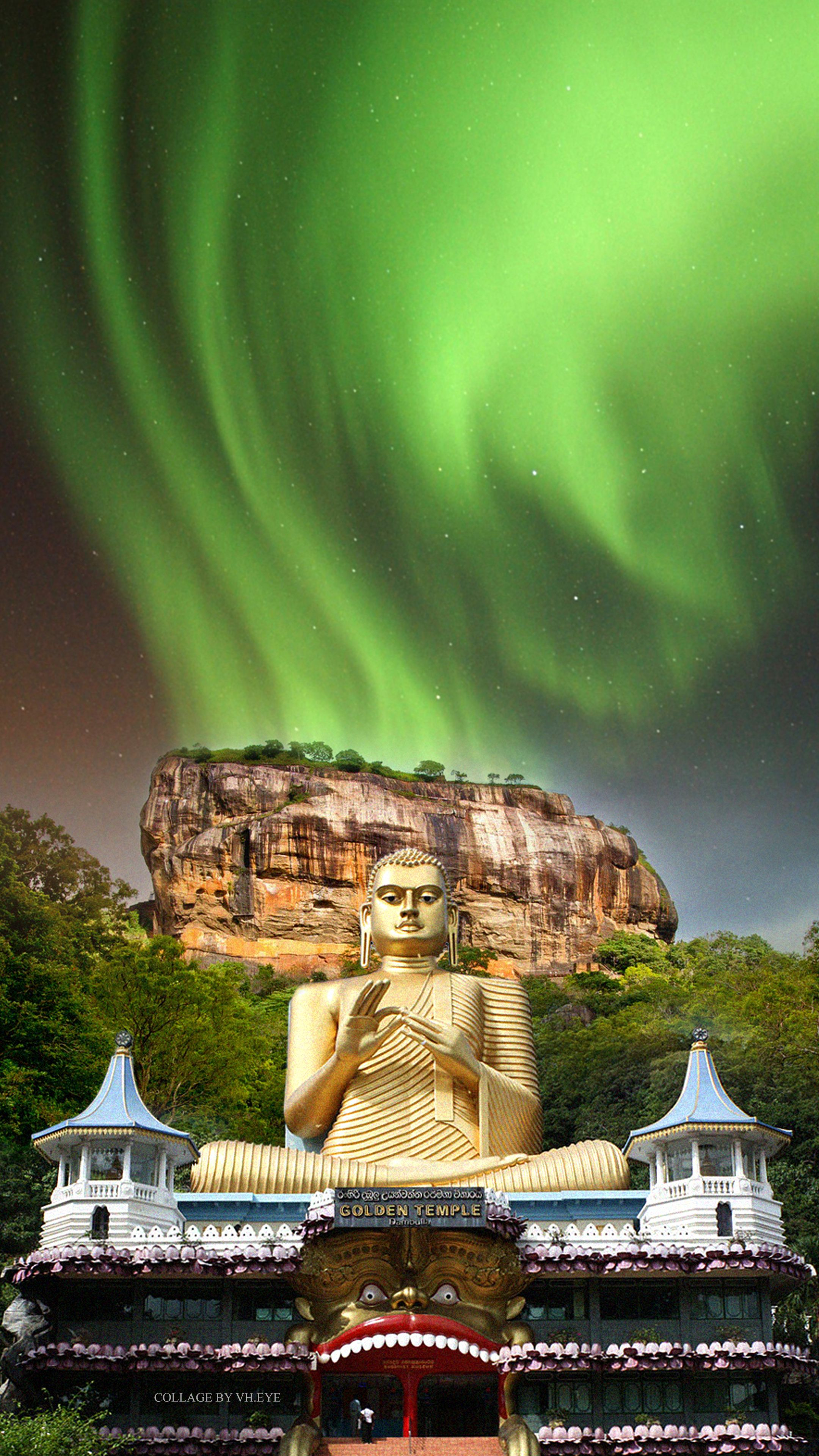 Sri Lanka The Golden Temple Dambulla Buddha Buddhist Holy Temple
