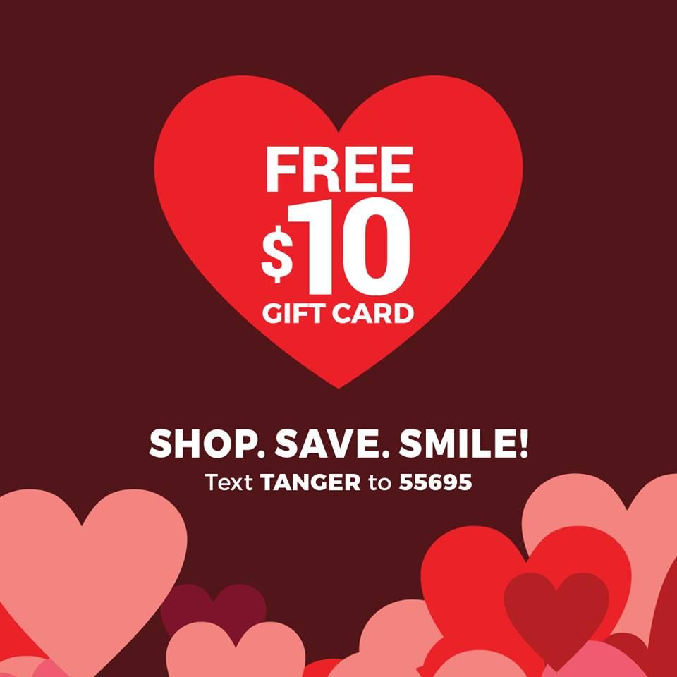 Free 10 gift card for tanger outlet gift card gift