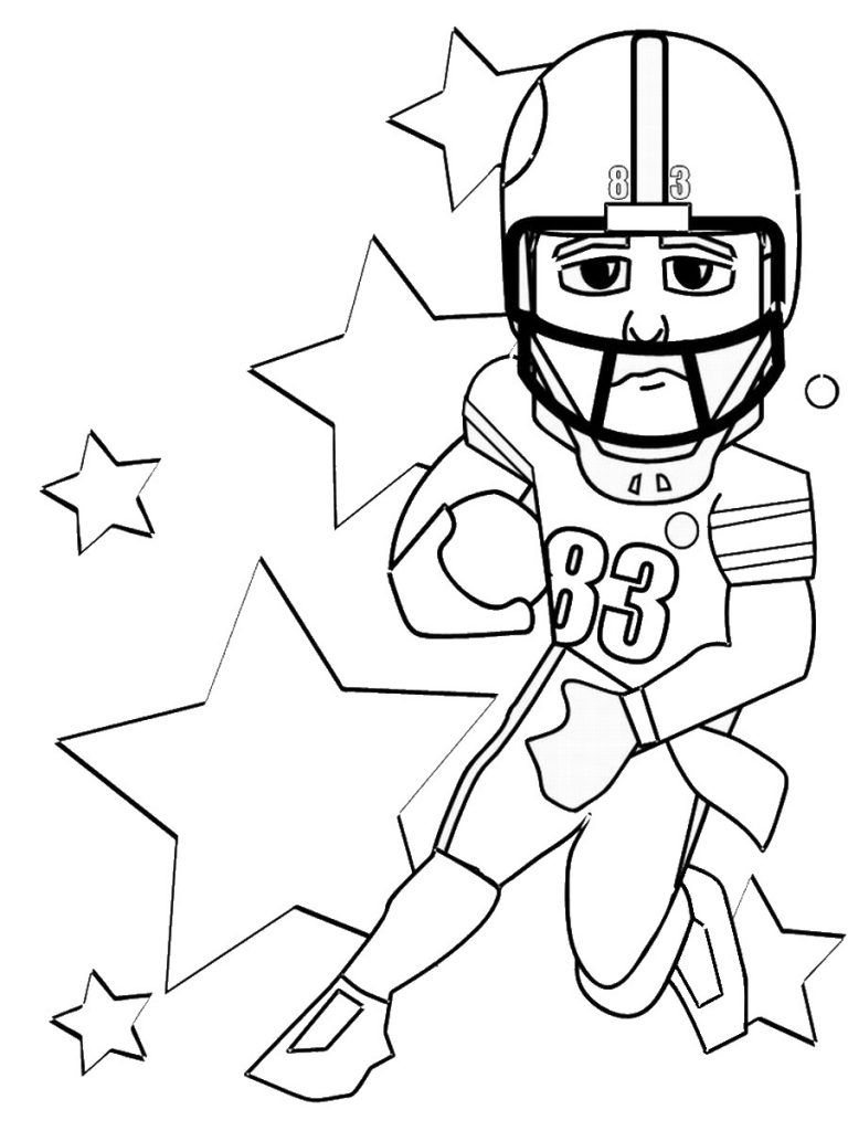 Free Printable Football Coloring Pages for Kids | Pinterest | Free ...