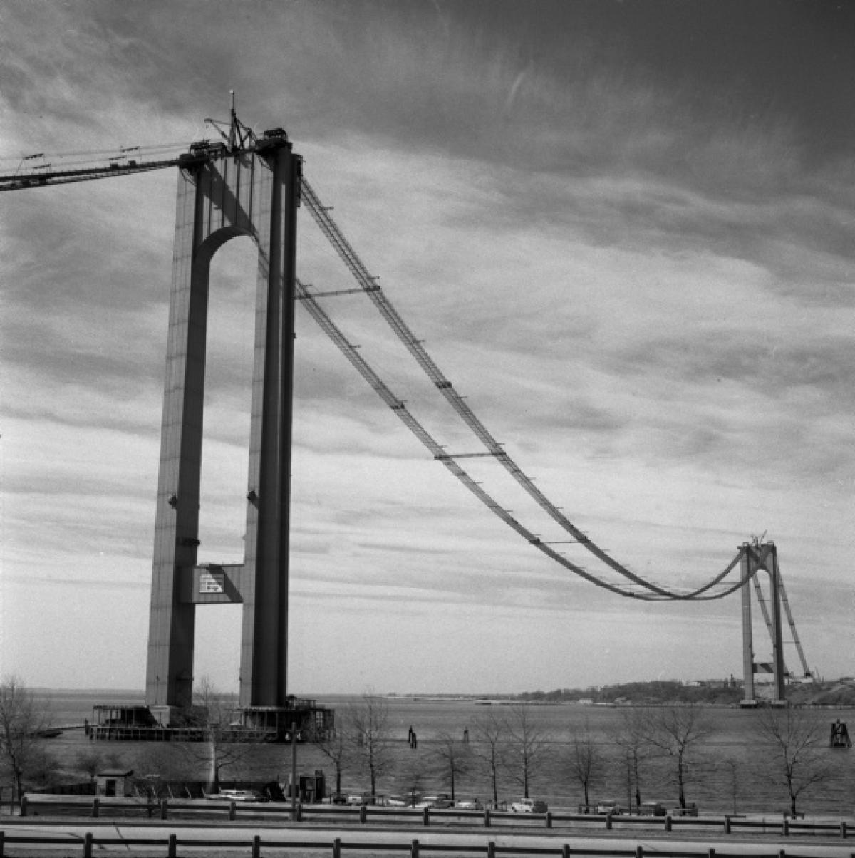 Brooklyn Staten Island Car: Verrazano-Narrows Bridge, 1963