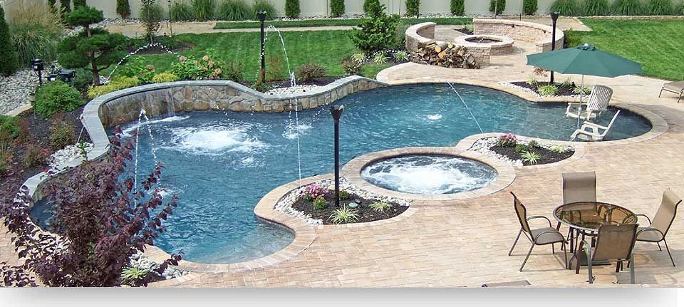 600 Sq Ft Pool With 96 Sq Ft Thermal Ledge Cornerstone Blend