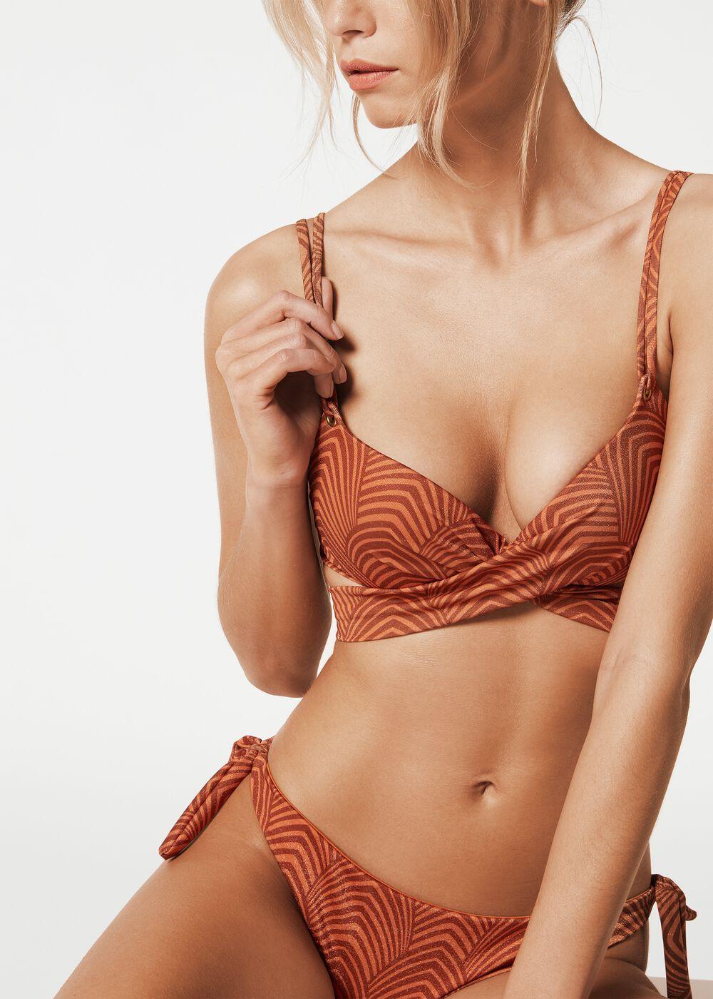 Calzedonia Damen Wattiertes Push-up-Bikinioberteil INES