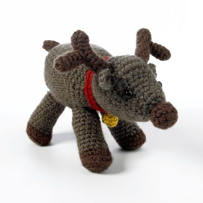Isn't this Amigurumi Reindeer adorable  You can find him through