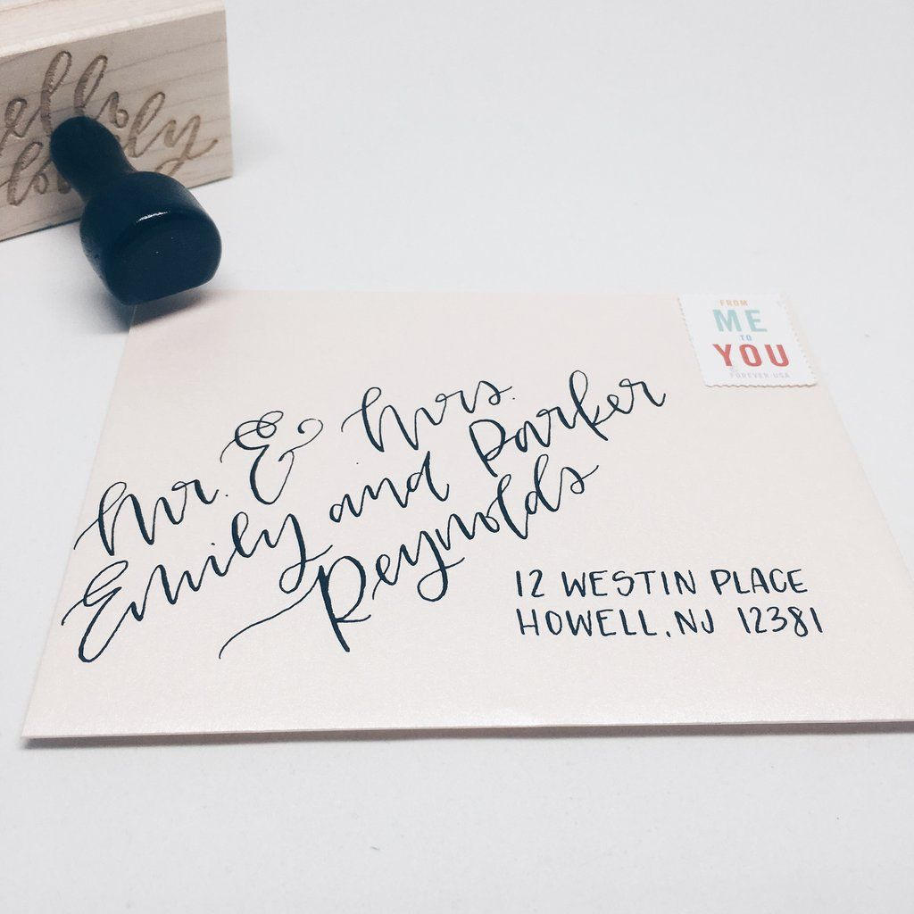 Envelopes with hand lettering — modern calligraphy or