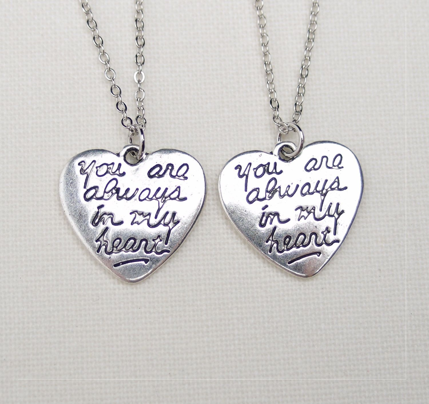 2 best friend lock and key necklaces, set of two, key to my heart ...