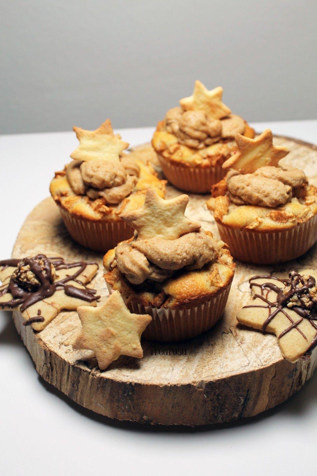 Leckere Apfel-Zimt Muffins mit Spekulatiustopping. Sehr einfach zuzubereiten und sehr lecker!
