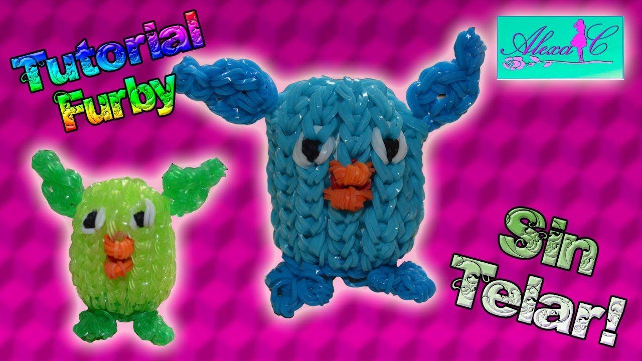 792c290685fe ♥ Tutorial: Furby de gomitas en 3D (sin telar) ♥ | Rainbow loom ...