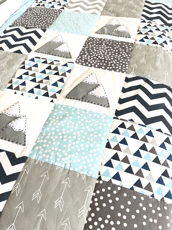 Baby Blanket Mountain Xl Baby Boy Crib Quilt Baby Boy