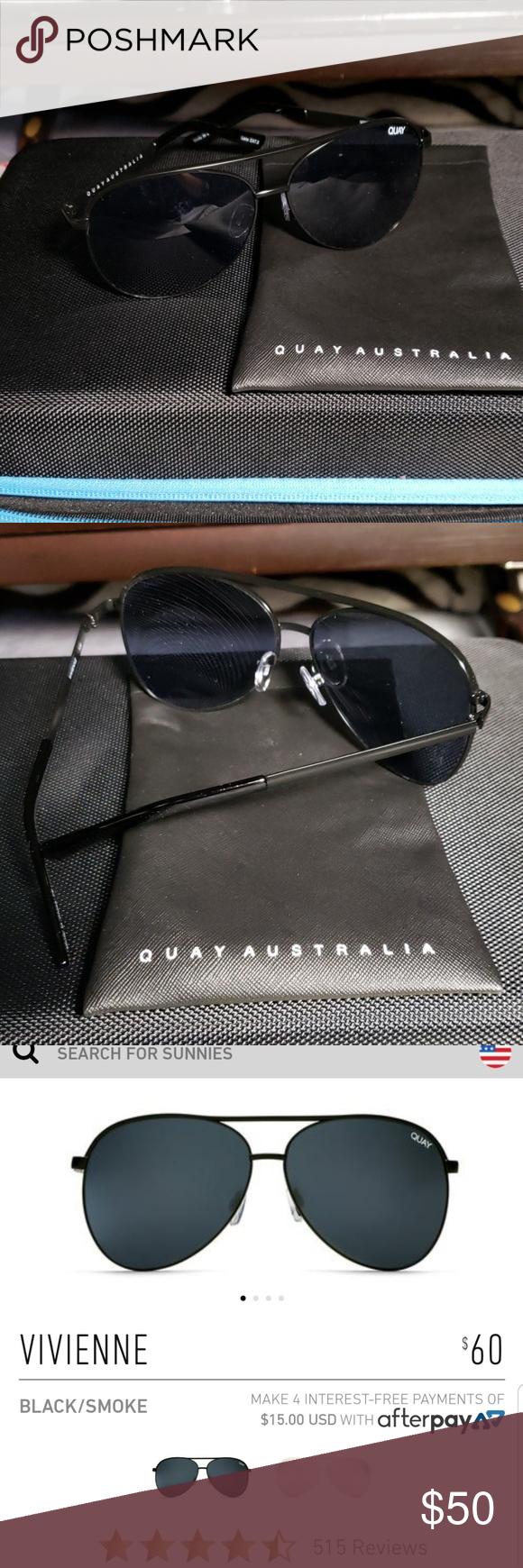 a2c862a147a Quay Australia Vivienne Aviator Sunglasses Quay Australia Vivienne  oversized Aviator Sunglasses. Comes with case.