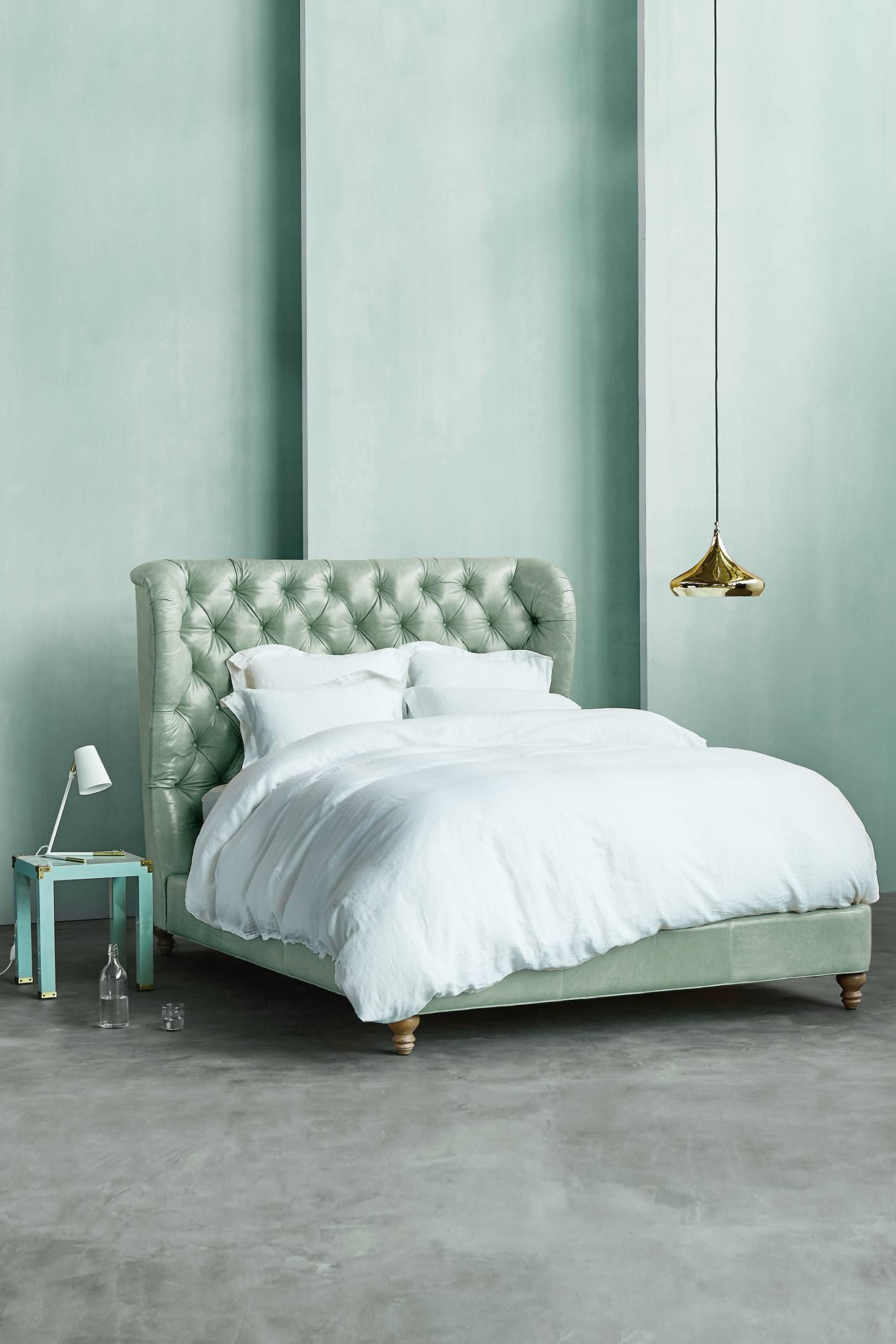 shop the premium leather tufted wingback bed and more anthropologie atanthropologie today read customer. shop the premium leather tufted wingback bed and more