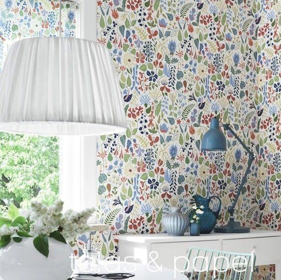 Die besten 25 papel pintado flores ideen auf pinterest for Murales de papel pintado