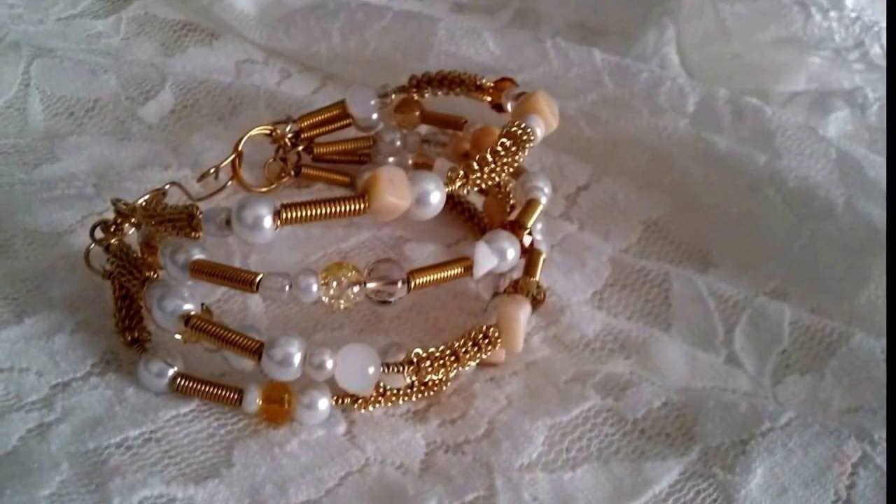 2e68246f91a3 como hacer pulseras de perlas pulseras de cristal cursos de ...