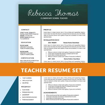 teacher cv templates