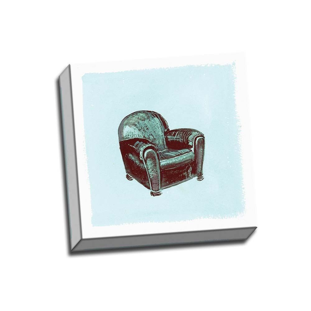 Picture It on Canvas 'Frau Chair IV' Wrapped Canvas Artwork