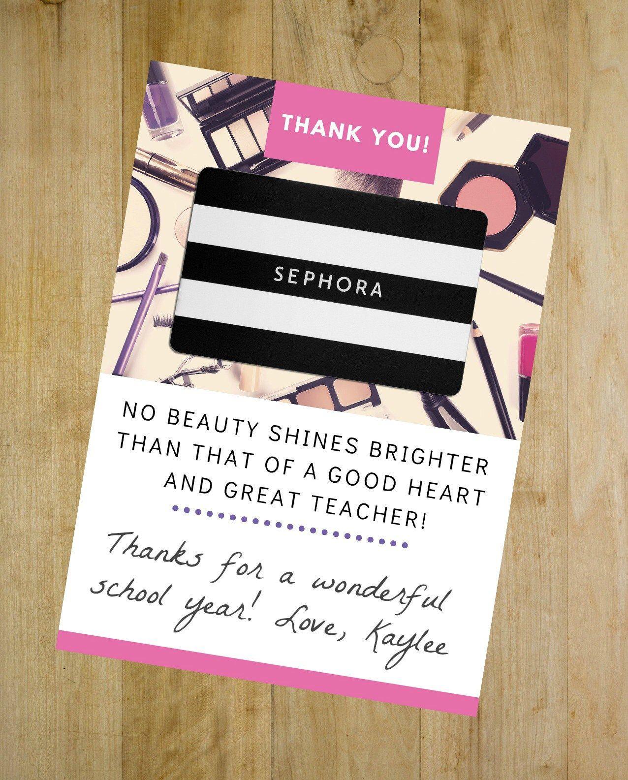 Sephoras Christmas Event Bag 2021 Teacher Appreciation Gift Printable Sephora Gift Card Holder Etsy In 2021 Sephora Gift Card Teacher Gift Card Teacher Appreciation Gifts