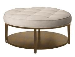 Mikayla Ottoman In Quot Dahlia Quot Tan Taupe Fabric And Quot Tobacco