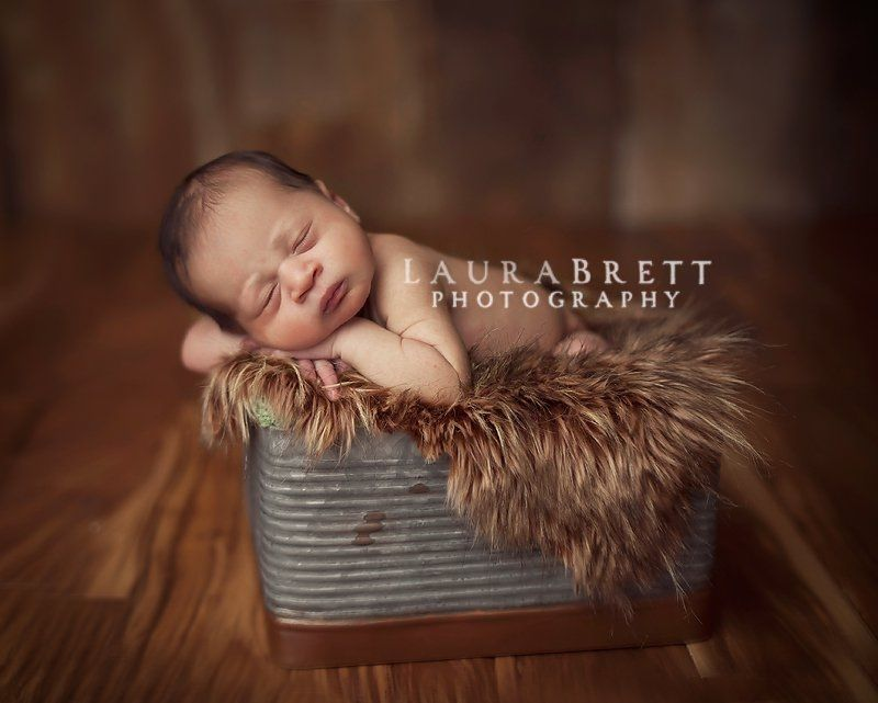 Baby posing buckets by laura brett of laura brett photography
