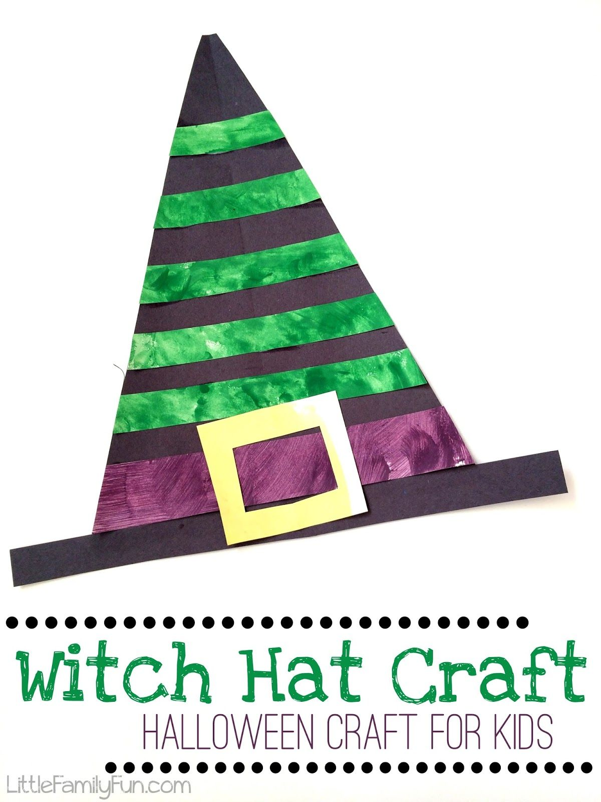 Witch Hat Craft for kids. Fun and easy craft for Halloween ...