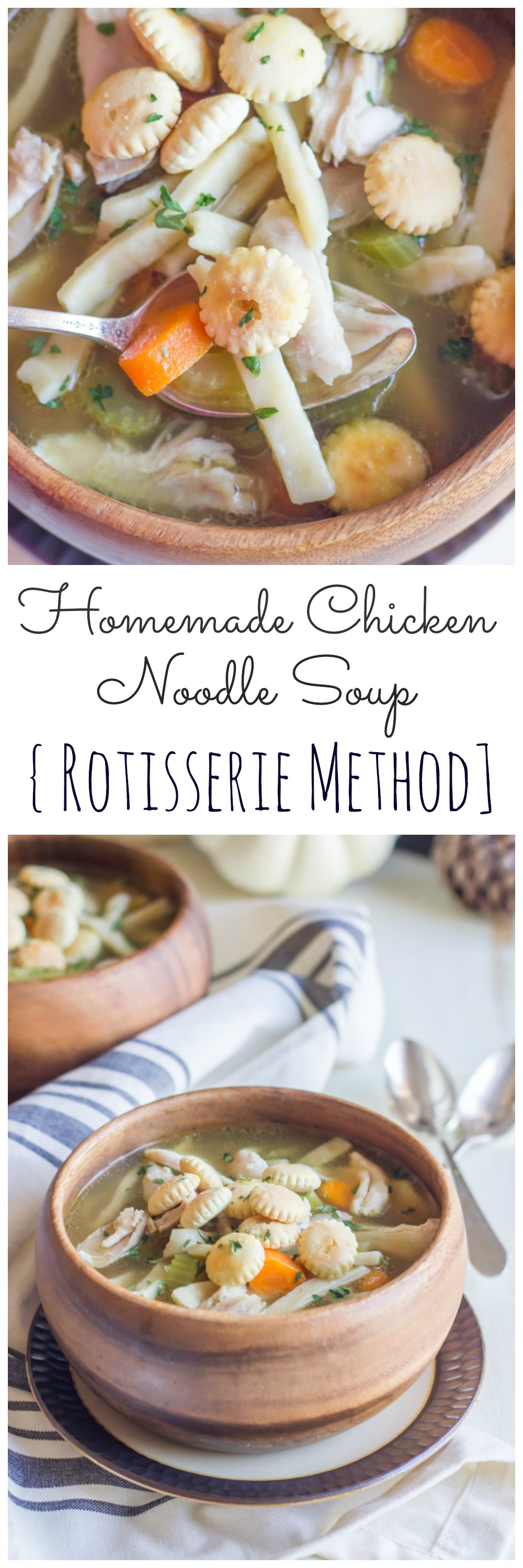 how to make a rich flavorful broth from a rotisserie